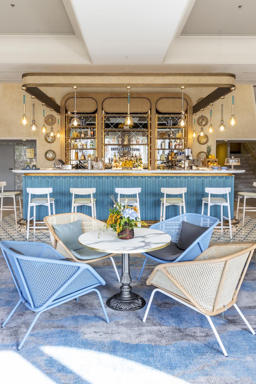 Hotel design | A bright and vibrant bar inside RG Naxos