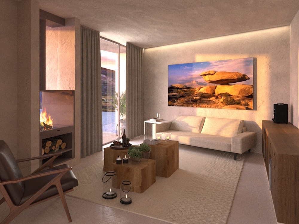 Room Rendering - lounge of suite in Mexico