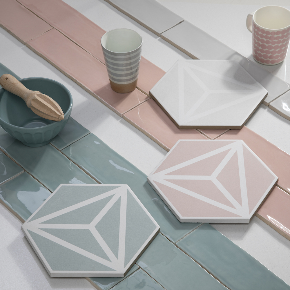 Hotel Designs | Geometric, tonal tiles