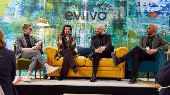 Hamish Kilburn, Marie Soliman, Tom Middleton and Mark Bruce on stage at Independent Hotel Show