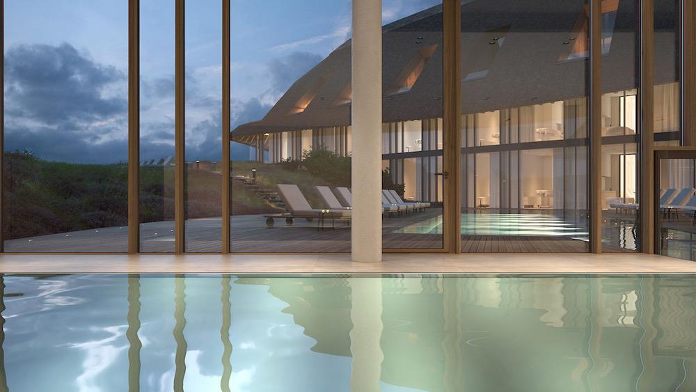 Wellness pool inside Lanserhof Sylt