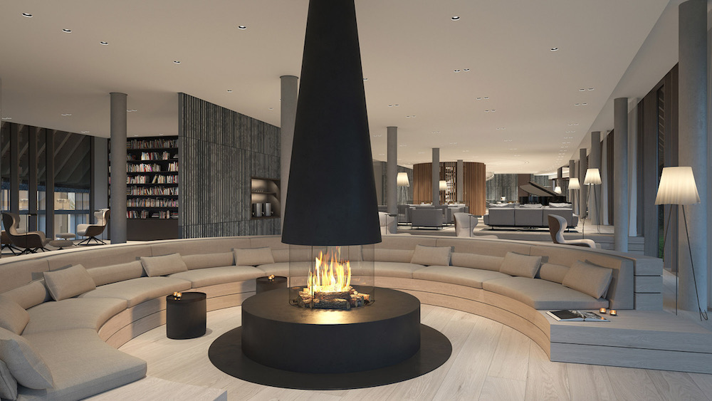 Luxury lounge inside Lanserhof Sylt