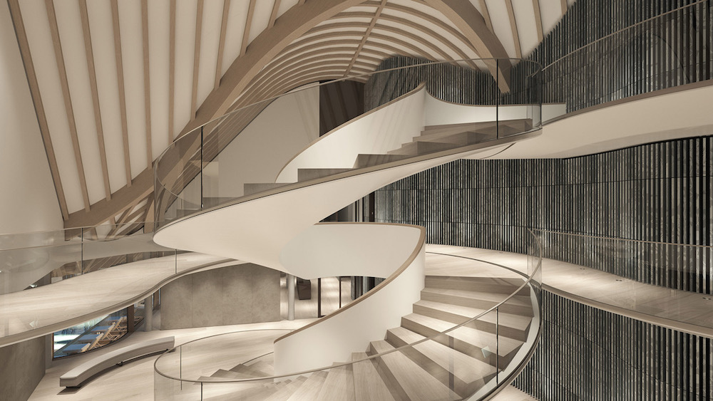 Render of staircase