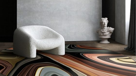 Hotel Designs | Liquid Layers collection by Moooi in minimalist room