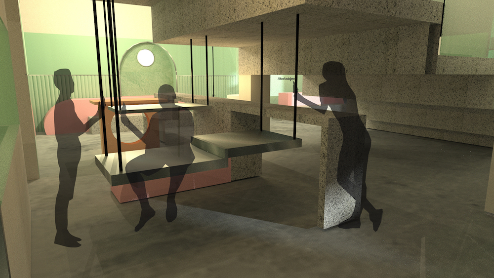 Image caption: Render of Panache, the hospitality concept, designed by Marissa Miltadous, which won her an NEWH scholarship in 2019.
