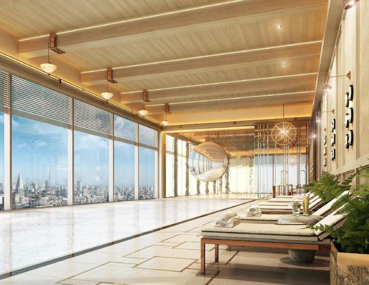 Hotel design | luxury pool in Langham Jakarta